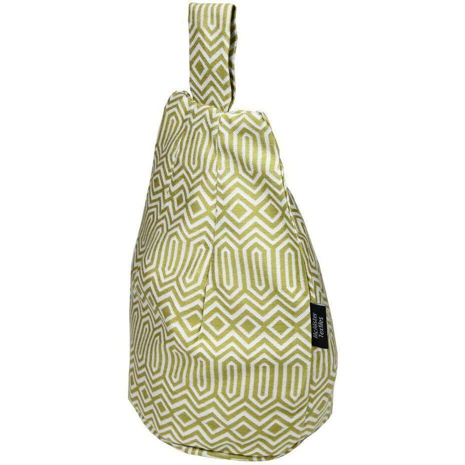 McAlister Textiles Colorado Geometric Yellow Tablet Stand Mini Bean Bag
