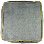 Load image into Gallery viewer, McAlister Textiles Deluxe Herringbone Grey + Yellow Cube Seat Stool Square Stool
