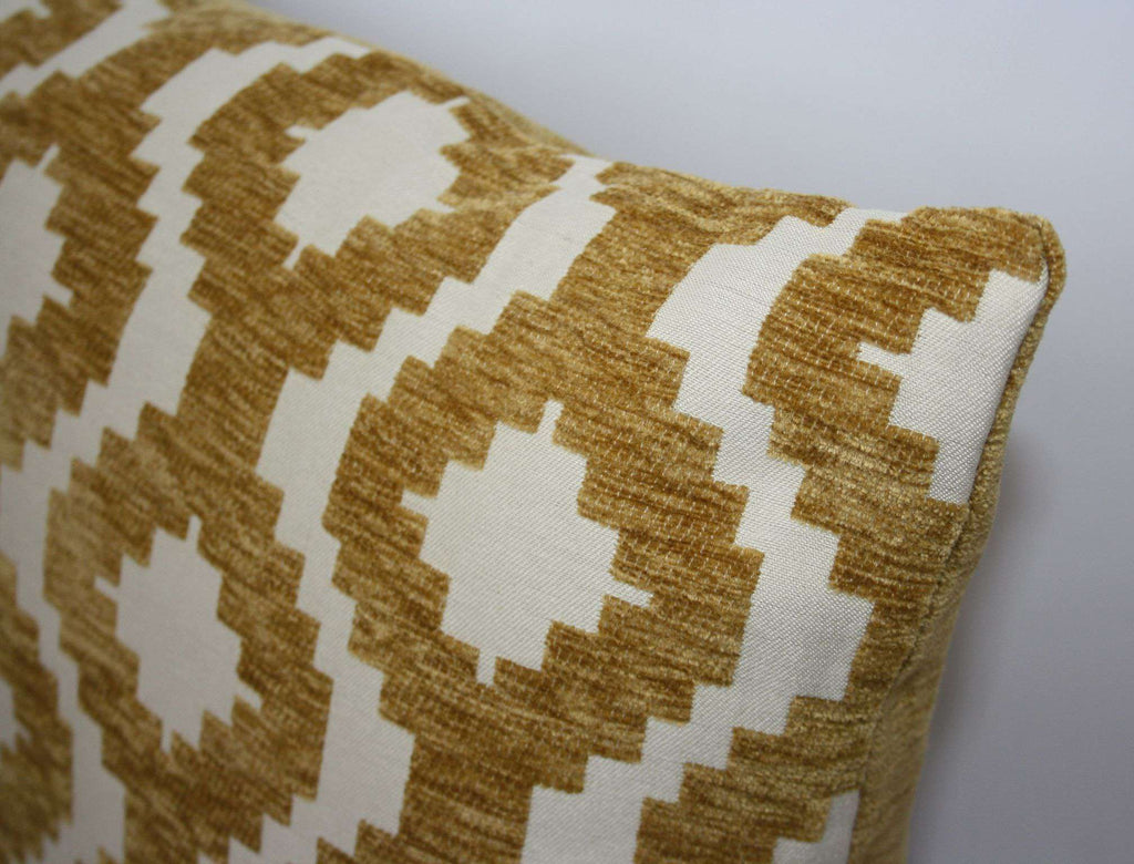 McAlister Textiles Arizona Geometric Yellow Pillow Pillow