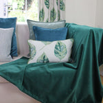 Load image into Gallery viewer, McAlister Textiles Matt Emerald Green Velvet Throw Blanket Throws and Runners