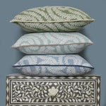 Load image into Gallery viewer, McAlister Textiles Little Leaf Sage Green Cushion Cushions and Covers