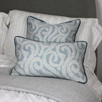 Load image into Gallery viewer, McAlister Textiles Little Leaf Wedgewood Blue Pillow Pillow