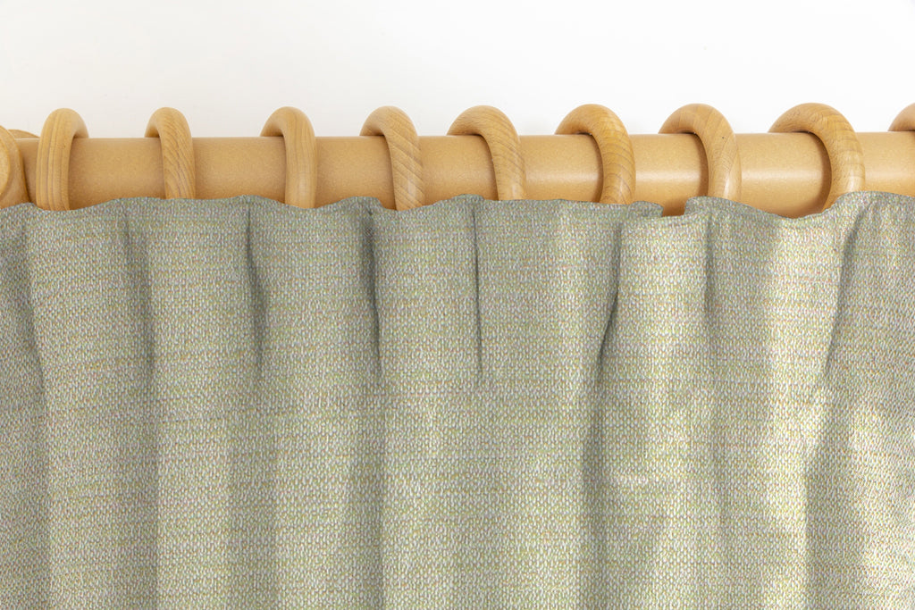 McAlister Textiles Hamleton Soft Green Textured Plain Curtains Tailored Curtains