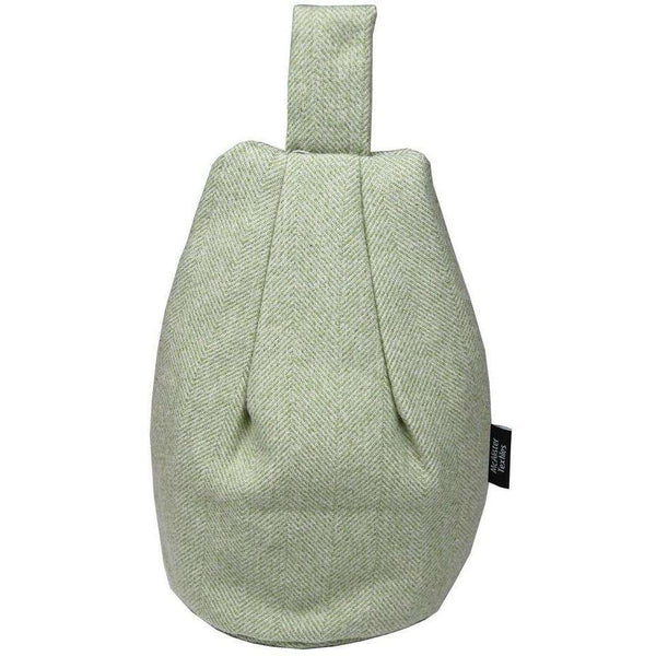 McAlister Textiles Herringbone Sage Green Bean Bag Stand Mini Bean Bag