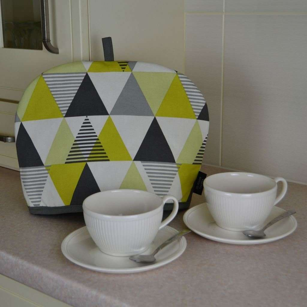 McAlister Textiles Vita Floral Ochre Yellow Tea Cosy Kitchen Accessories
