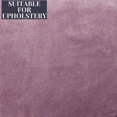McAlister Textiles Matt Velvet Plain Soft Fabric - Heather Purple-Fabrics-
