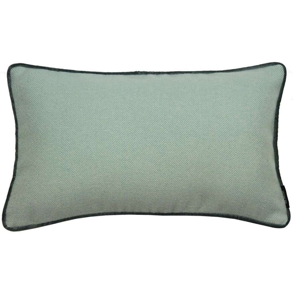 McAlister Textiles Herringbone Boutique Duck Egg Blue Cushion Cushions and Covers Cover Only 50cm x 30cm
