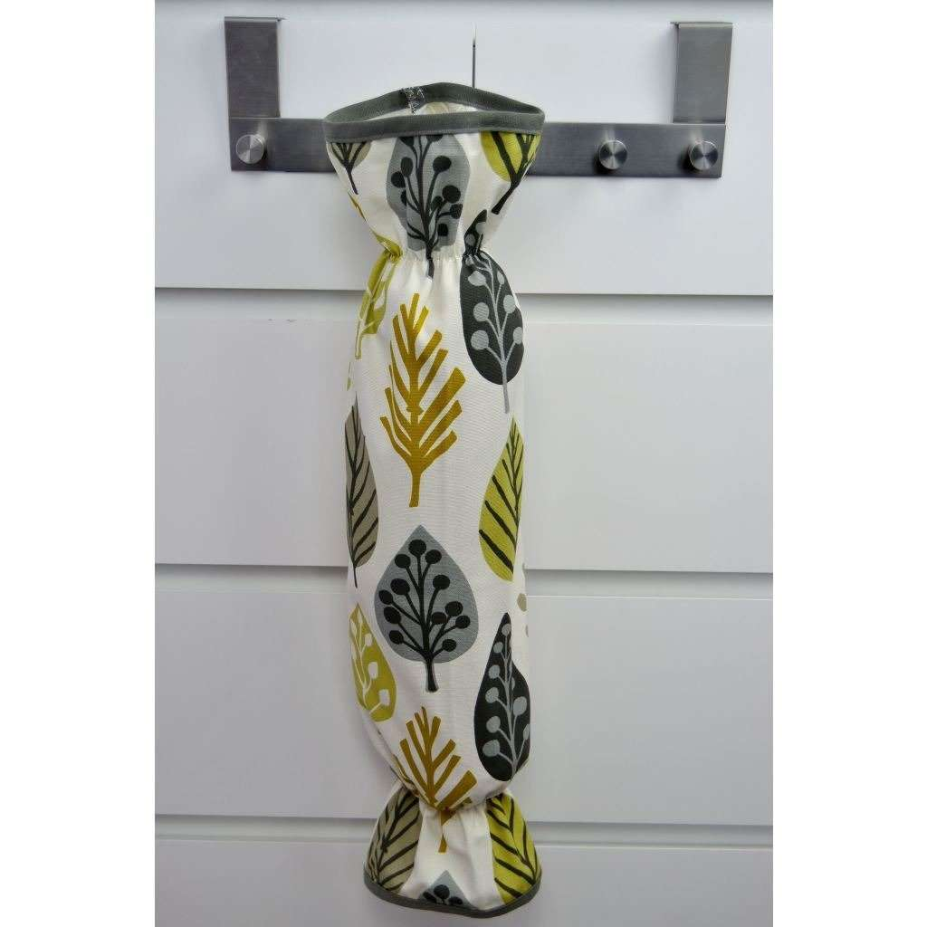 McAlister Textiles Magda Ochre Yellow Carrier Bag Holder Kitchen Accessories