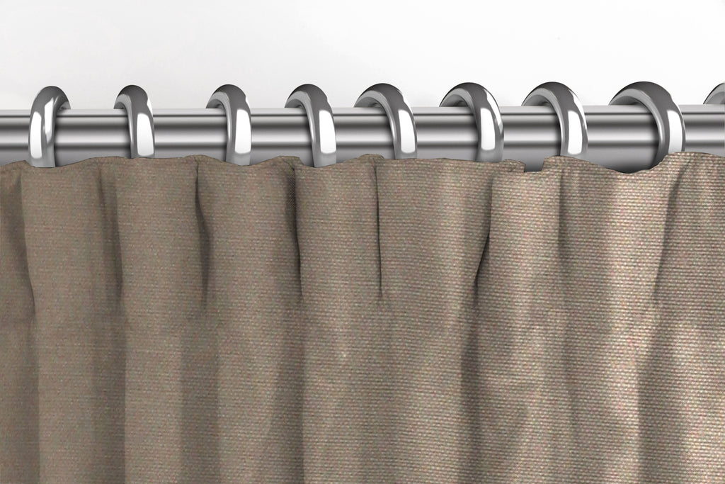 McAlister Textiles Panama Plain Taupe Curtains Tailored Curtains