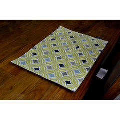 McAlister Textiles Laila Geometric Ochre Yellow Table Placemat Set-Kitchen Accessories-