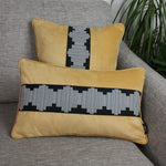 Load image into Gallery viewer, McAlister Textiles Maya Striped Ochre Yellow Velvet Cushion Cushions and Covers
