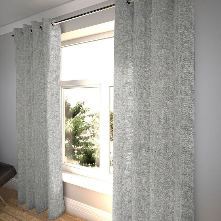 "McAlister Textiles Rhumba Charcoal Grey Curtains Tailored Curtains 116cm(w) x 182cm(d) (46"" x 72"")"