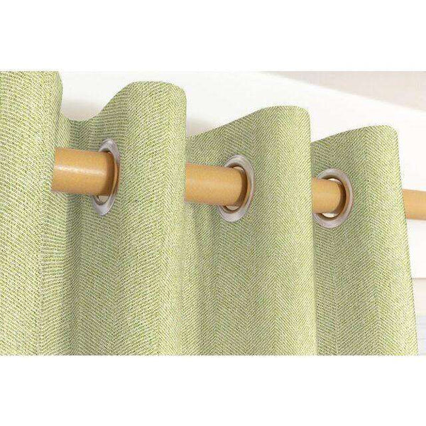 McAlister Textiles Herringbone Sage Green Curtains Tailored Curtains