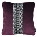 Load image into Gallery viewer, McAlister Textiles Coba Striped Aubergine Purple Velvet Pillow Pillow Cover Only 43cm x 43cm