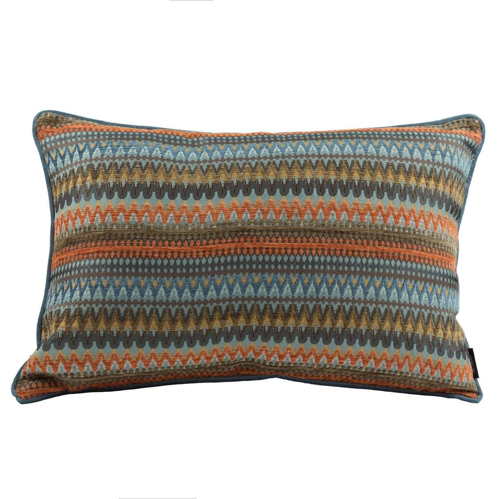 McAlister Textiles Curitiba Aztec Orange + Teal Pillow Pillow Cover Only 50cm x 30cm