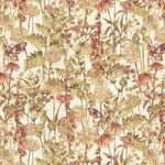 Load image into Gallery viewer, McAlister Textiles Wildflower Burnt Orange Linen Curtains Tailored Curtains