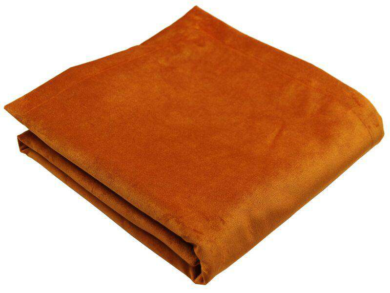 McAlister Textiles Matt Burnt Orange Velvet Bedding Set Bedding Set