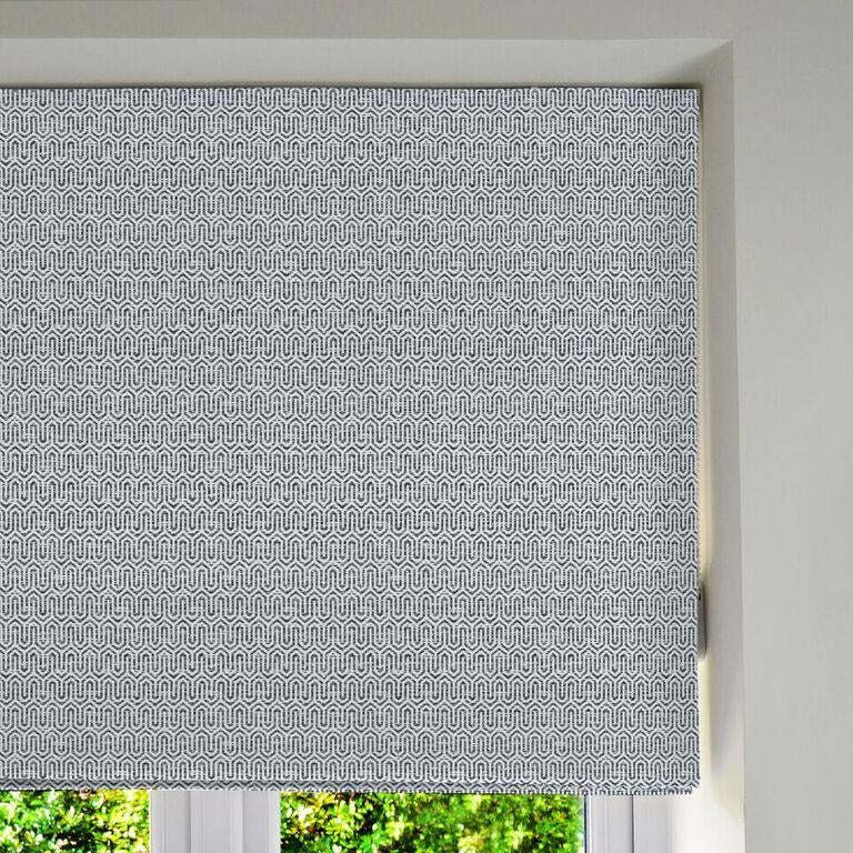 McAlister Textiles Costa Rica Black + White Roman Blind Roman Blinds