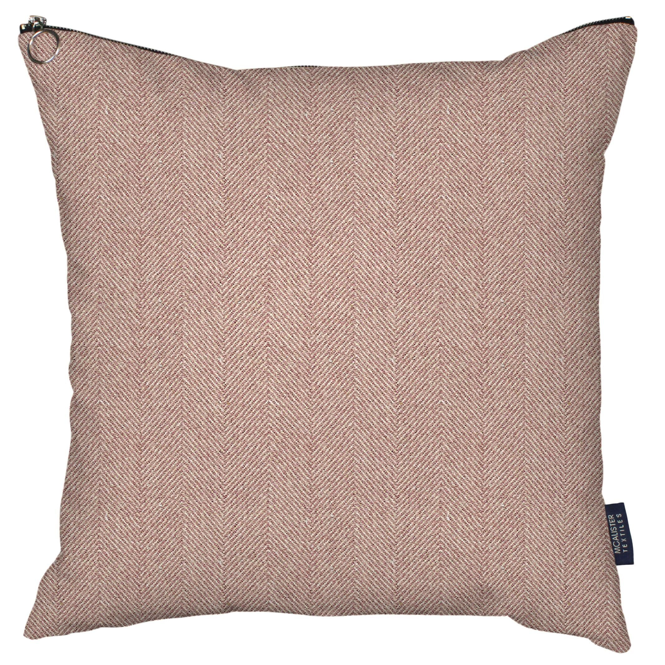McAlister Textiles Herringbone Zipper Edge Lilac Purple Cushion Cushions and Covers Cover Only 43cm x 43cm