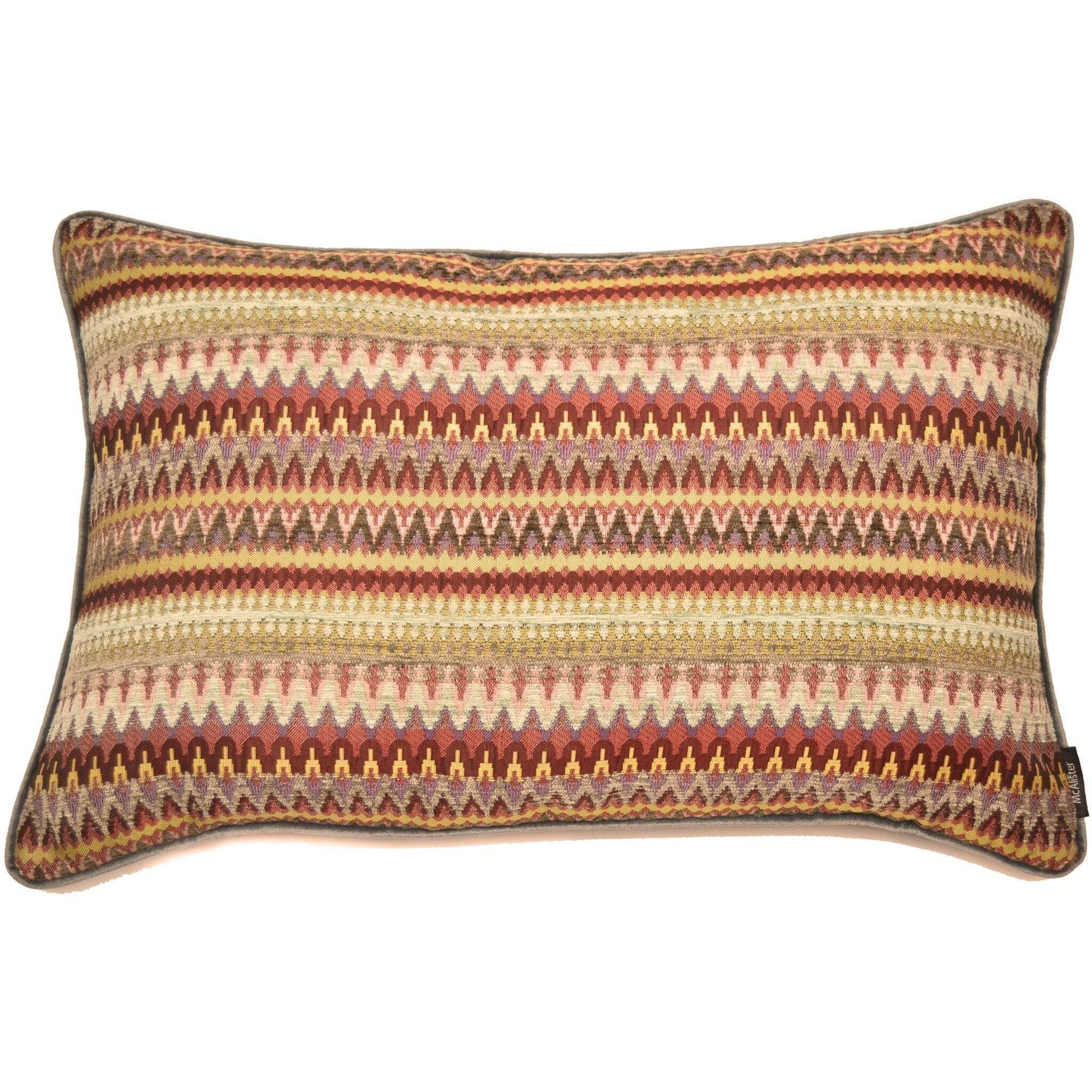 McAlister Textiles Curitiba Aztec Red + Purple Aztec Cushion Cushions and Covers Cover Only 50cm x 30cm