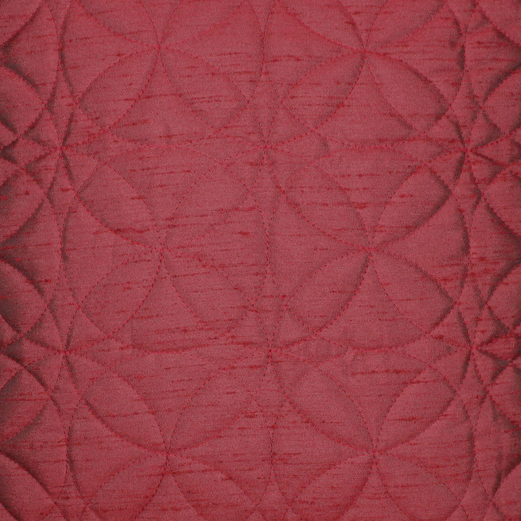 McAlister Textiles Rocco Round Quilted Wine Red Silk Cushion Cushions and Covers