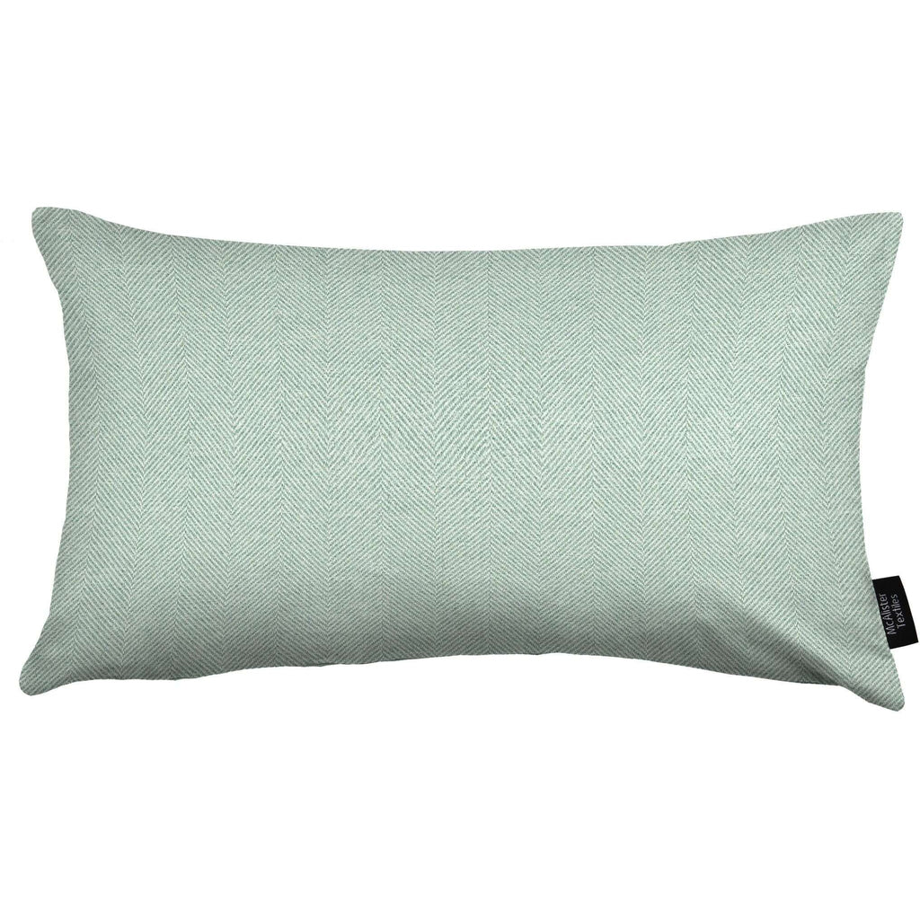 McAlister Textiles Herringbone Duck Egg Blue Cushion Cushions and Covers Cover Only 50cm x 30cm