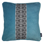 Charger l'image dans la galerie, McAlister Textiles Coba Striped Duck Egg Blue Velvet Cushion Cushions and Covers Polyester Filler 43cm x 43cm