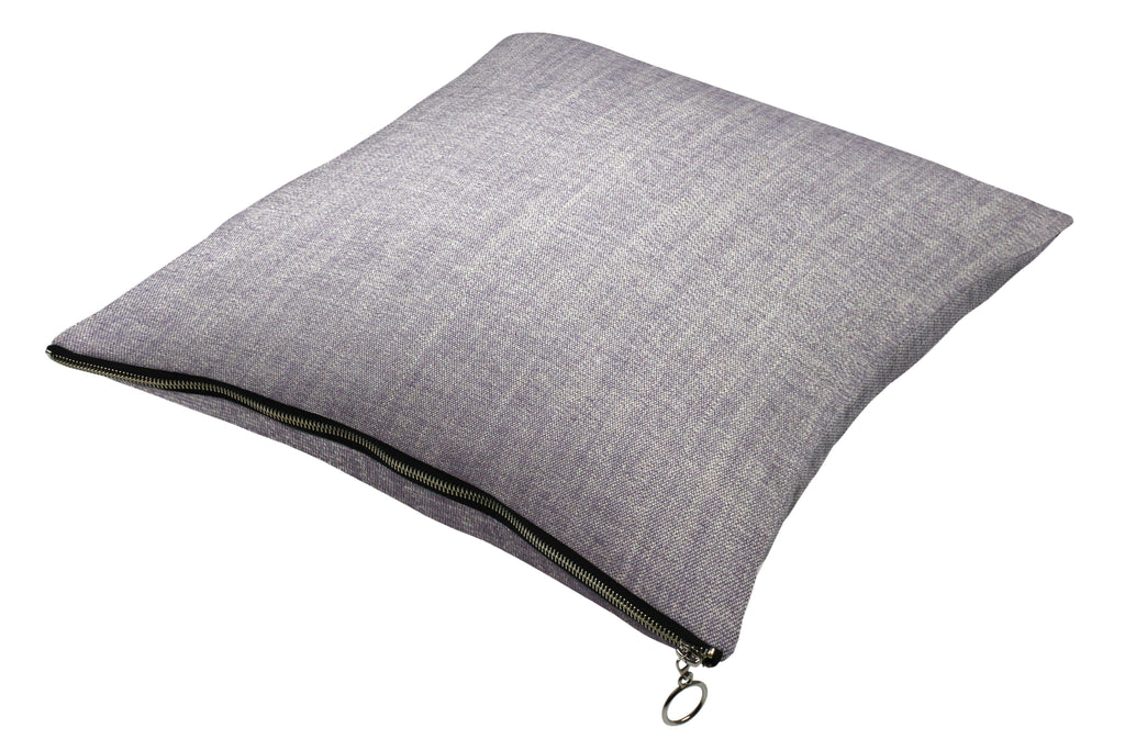 McAlister Textiles Rhumba Zipper Edge Lilac Purple Linen Cushion Cushions and Covers Cover Only 43cm x 43cm