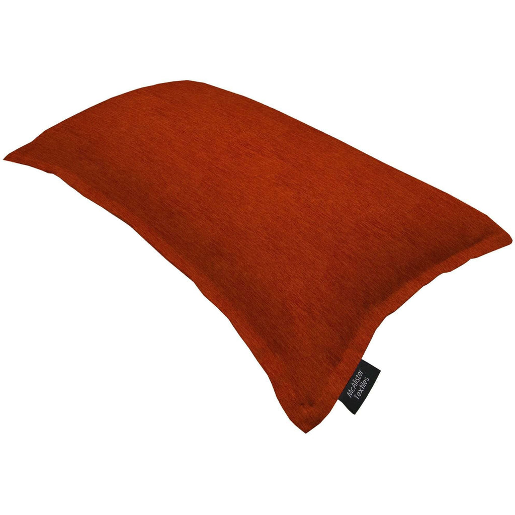 McAlister Textiles Plain Chenille Burnt Orange Cushion Cushions and Covers