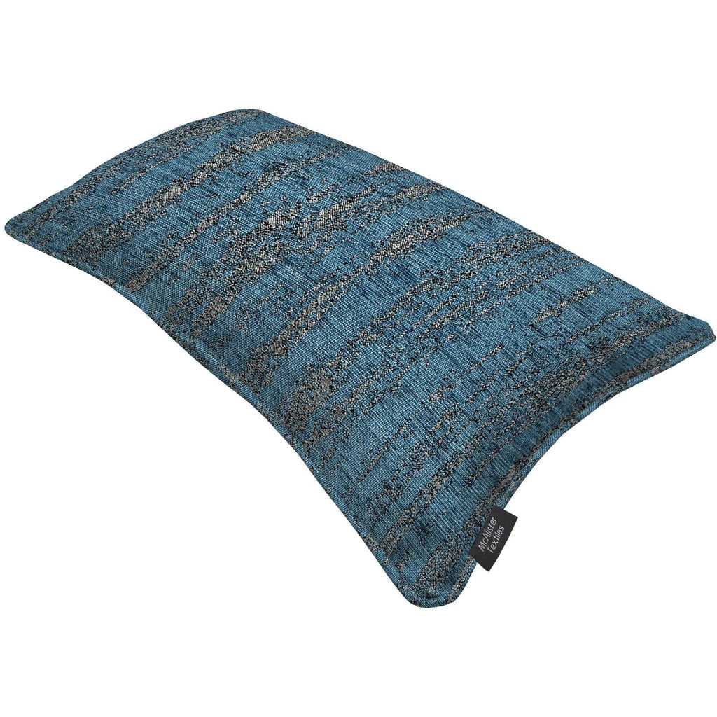 McAlister Textiles Textured Chenille Denim Blue Cushion Cushions and Covers