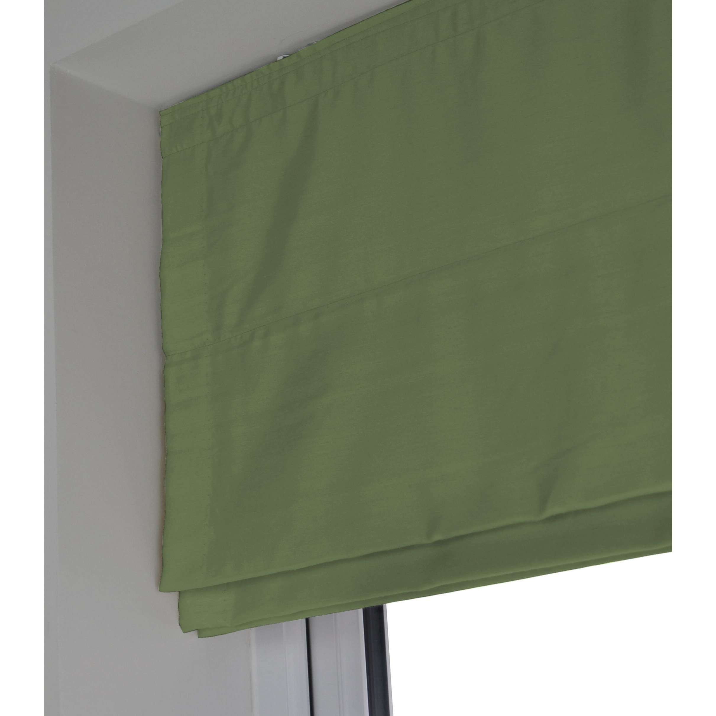 McAlister Textiles Rocco Faux Silk Fern Green Blinds Roman Blinds