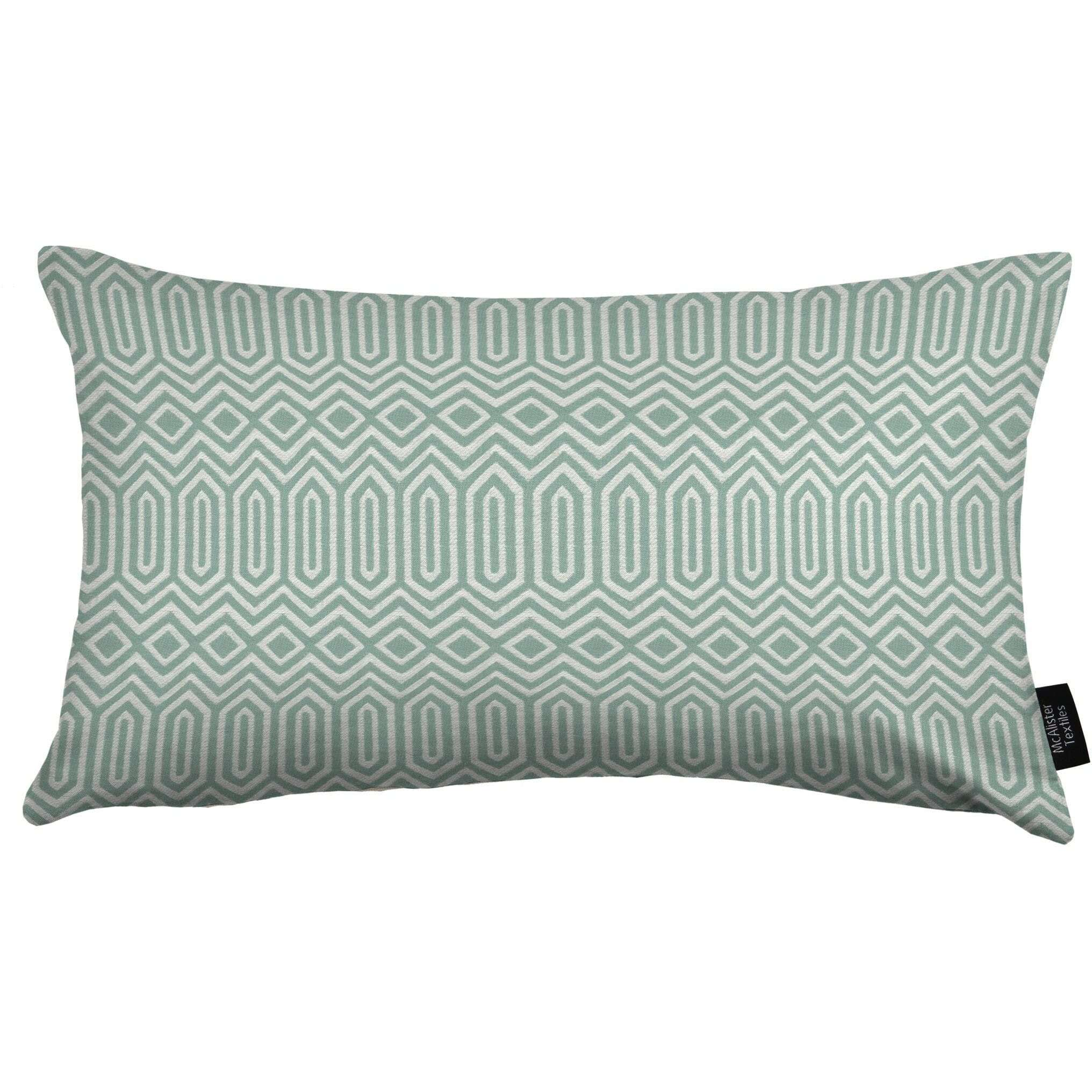 McAlister Textiles Colorado Geometric Duck Egg Blue Pillow Pillow Cover Only 50cm x 30cm