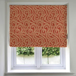 Load image into Gallery viewer, McAlister Textiles Little Leaf Burnt Orange Roman Blind Roman Blinds Standard Lining 130cm x 200cm