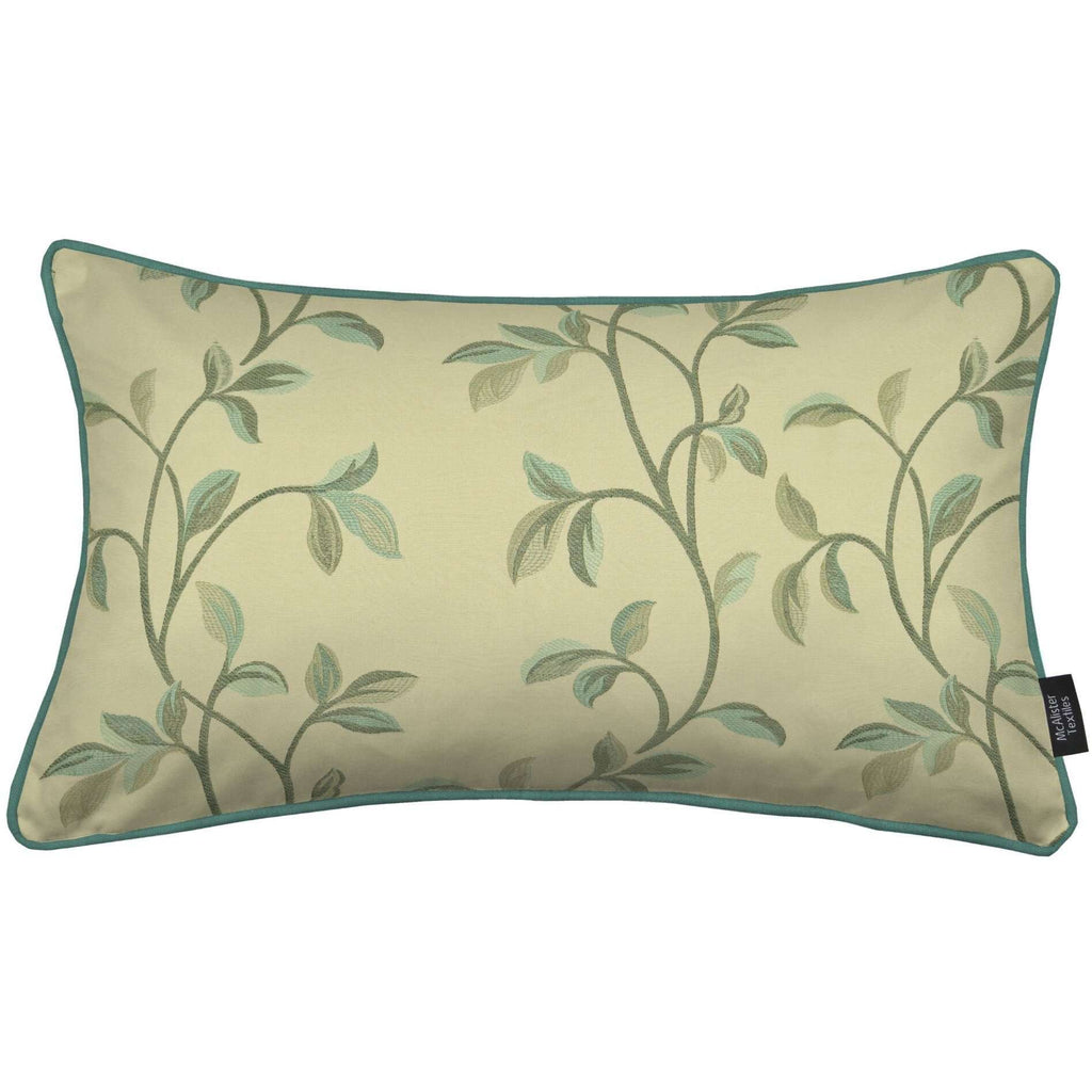 McAlister Textiles Annabel Floral Duck Egg Blue Cushion Cushions and Covers Cover Only 50cm x 30cm