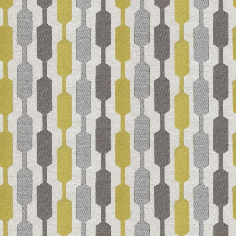 McAlister Textiles Lotta Yellow + Grey Fabric Fabrics 1 Metre