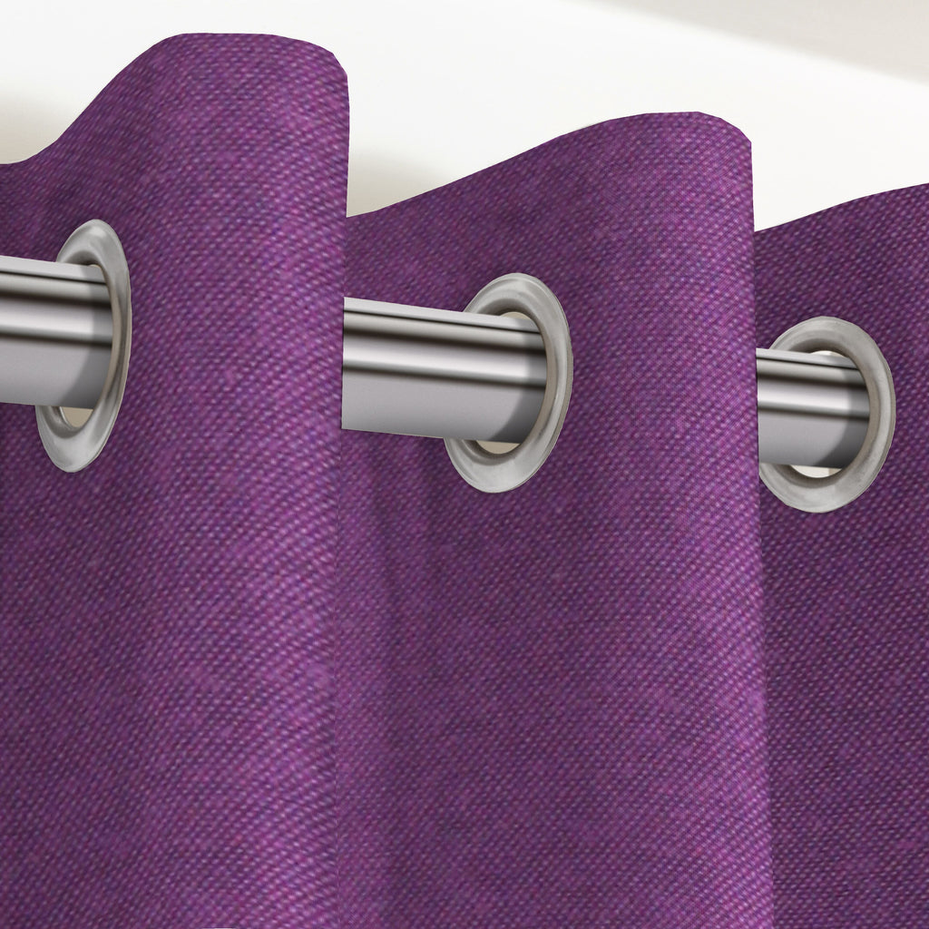 "McAlister Textiles Panama Plain Purple Curtains Tailored Curtains 116cm(w) x 137cm(d) (46"" x 54"")"