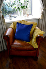 Load image into Gallery viewer, McAlister Textiles Matt Ochre Yellow Velvet 43cm x 43cm Cushion Sets Cushions and Covers