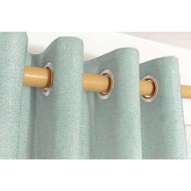 McAlister Textiles Herringbone Duck Egg Blue Curtains Tailored Curtains