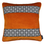 Cargar imagen en el visor de la galería, McAlister Textiles Cancun Striped Burnt Orange Velvet Cushion Cushions and Covers Polyester Filler 43cm x 43cm