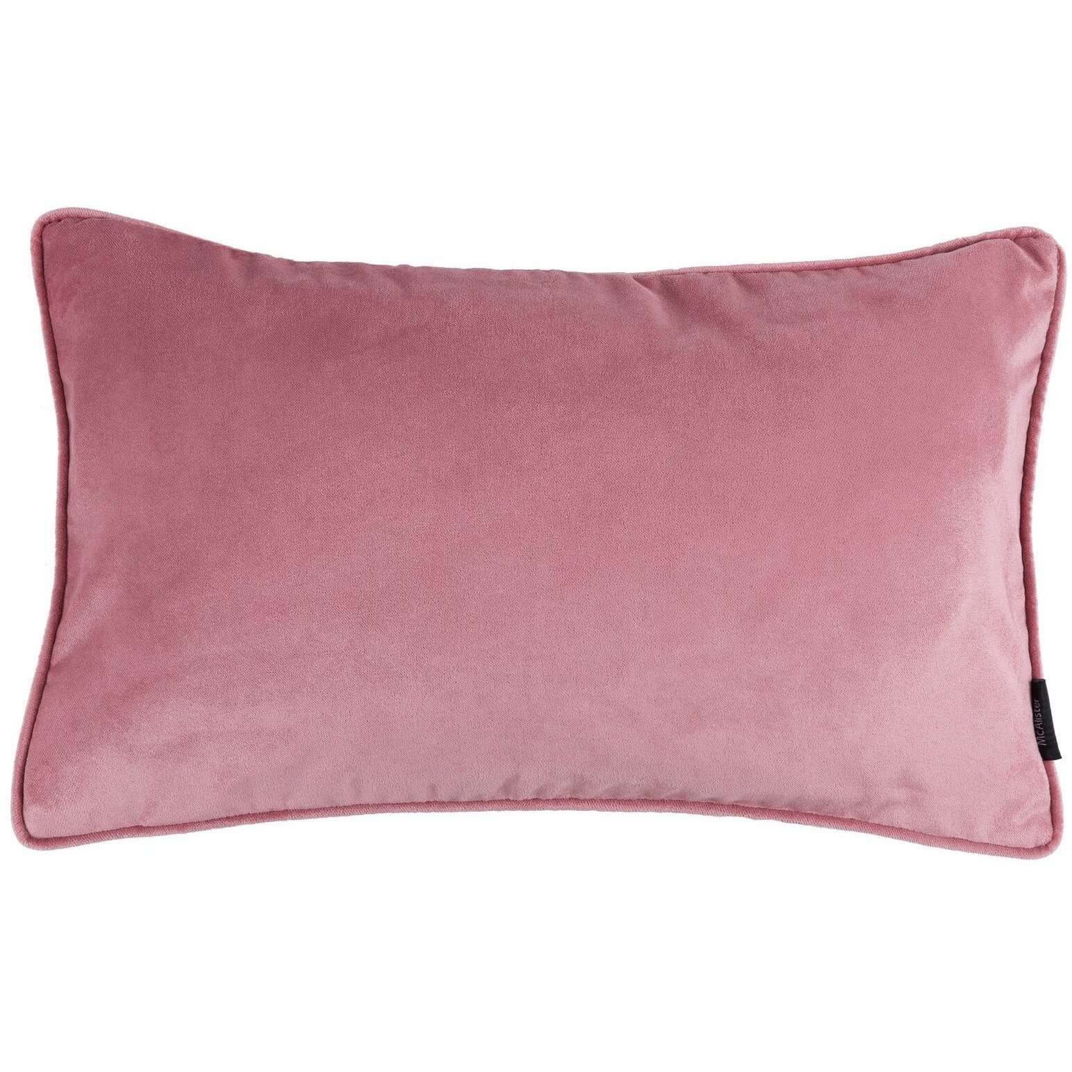 McAlister Textiles Matt Blush Pink Velvet Cushion Cushions and Covers Cover Only 50cm x 30cm