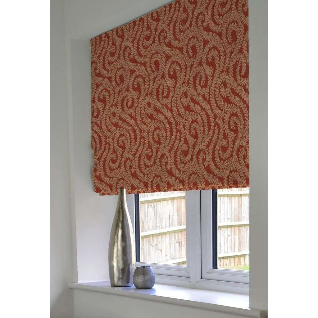 McAlister Textiles Little Leaf Burnt Orange Roman Blind Roman Blinds