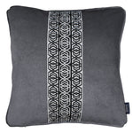 Charger l'image dans la galerie, McAlister Textiles Coba Striped Charcoal Grey Velvet Cushion Cushions and Covers Polyester Filler 43cm x 43cm