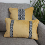 Carica l'immagine nel visualizzatore di Gallery, McAlister Textiles Coba Striped Ochre Yellow Velvet Cushion Cushions and Covers