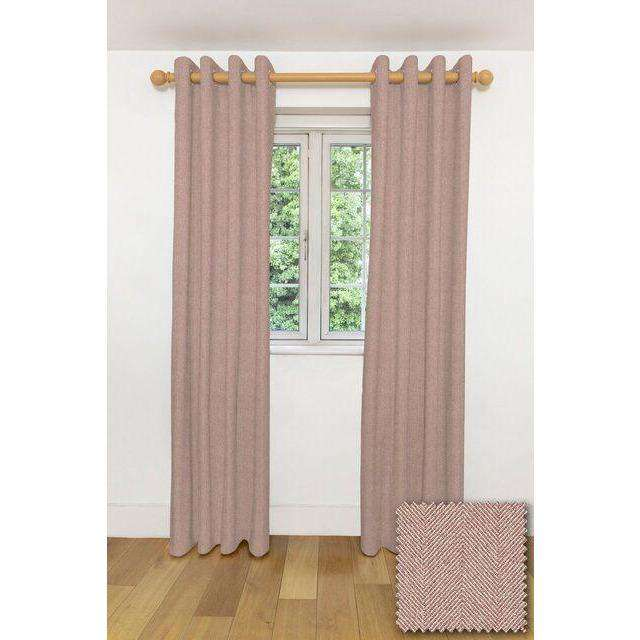 "McAlister Textiles Herringbone Lilac Purple Curtains Tailored Curtains 116cm(w) x 182cm(d) (46"" x 72"")"
