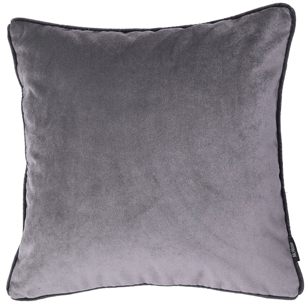 McAlister Textiles Matt Soft Silver Velvet 43cm x 43cm Cushion Sets Cushions and Covers