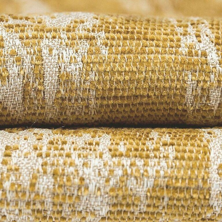 McAlister Textiles Textured Chenille Mustard Yellow Curtains Tailored Curtains