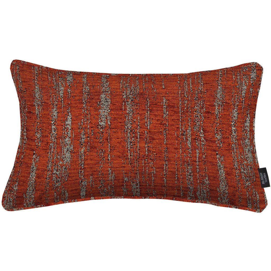 McAlister Textiles Textured Chenille Boudoir Pillow - Burnt Orange-Cushions and Covers-