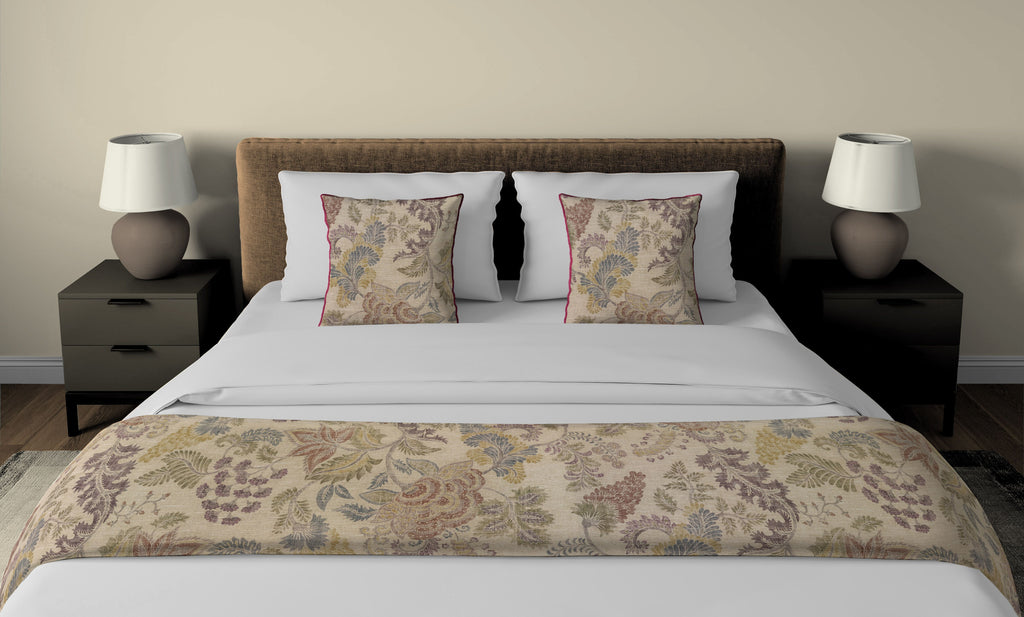 McAlister Textiles Floris Vintage Floral Linen Bedding Set Bedding Set
