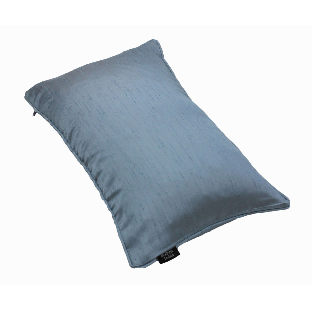McAlister Textiles Rocco Plain Faux Silk Pale Blue Cushion Cushions and Covers