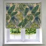 Load image into Gallery viewer, McAlister Textiles Palm Leaf Velvet Print Roman Blind Roman Blinds Standard Lining 130cm x 200cm